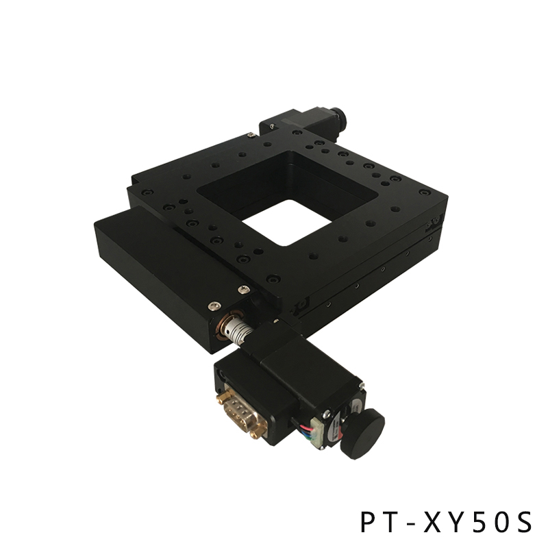 PT-XY50 XY Motorized Microscope Stage Electric XY Integral Combinating Platform 50mm Travel Electric linear stage linear table bes sale top quality microscope xy measuring stage x y moving stage xy working stage used for inspection microscopes