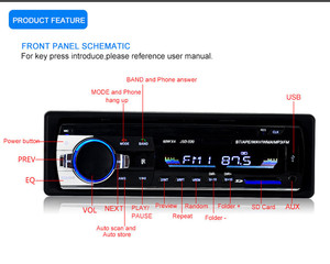 Image 4 - 1PC Bluetooth Car Stereo Receiver Auto radio 1 din Car Mp3 player USB FM Tuner Multimedia Auto subwoofer Electronics for car