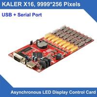 kaler Outdoor indoor led display control card X16 USB Serial port max support 9999x256 pixel message led display