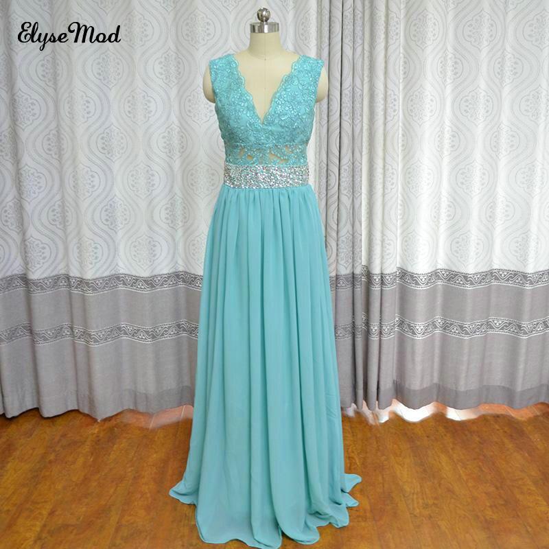 Anos De Princesa v-cou réel Photo longue robe De soirée formelle élégante Turquoise Scoop robe De soirée De bal 2018