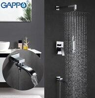 GAPPO Shower Faucets Rainfall Bath Tub Faucet Bathroom Faucet Mixer Wall Mount Shower Taps Shower System