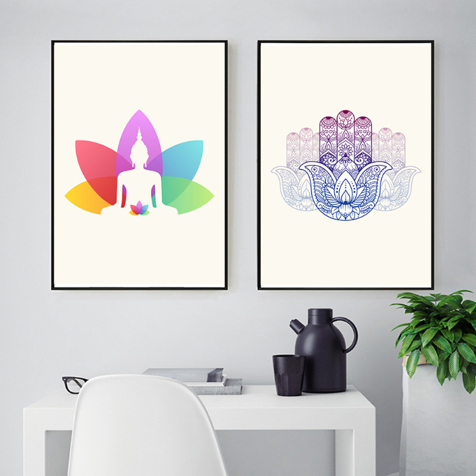 Modern Minimalist Indian Yoga Style Decoration Art Pictures Canvas Paintings Posters and Prints for Bedroom Home Decor in Painting Calligraphy from Home Garden
