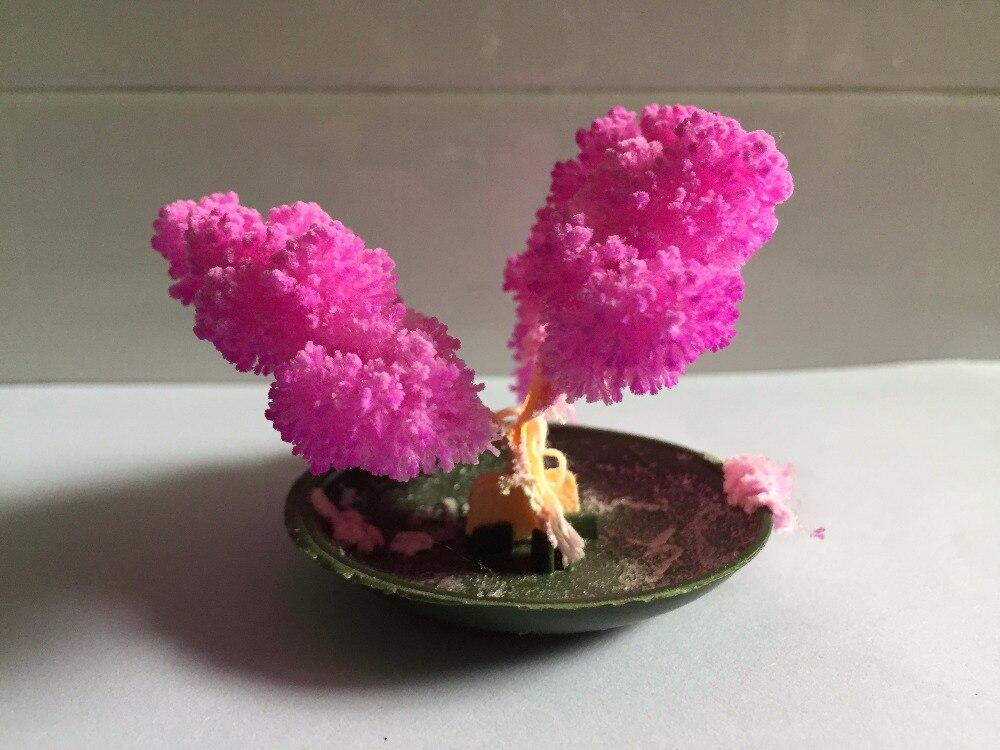 Nouveau 6x7 cm Rose Croissant Magique Papier Papillon Arbre Artificiel Grossissement Magique De Noël Arbres Arvore Magica Enfants Science jouets 100 pcs