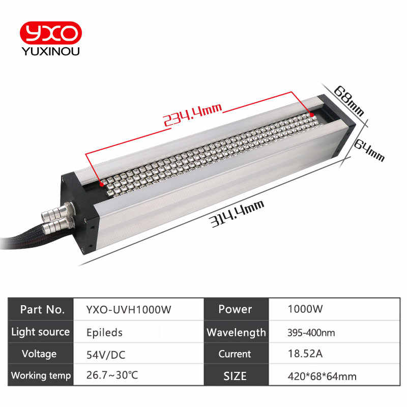 1 pcs 1000 W UV LED ระบบการพิมพ์ led curing เครื่อง, ป้ายพิมพ์, เครื่องพิมพ์, หมึก uv, กาวบ่ม light