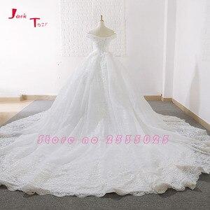 Image 2 - Jark Tozr New Arrive Off The Shoulder Short Sleeve Gorgeous Princess Ball Gown Wedding Dresses Vestidos De Noiva Princesa