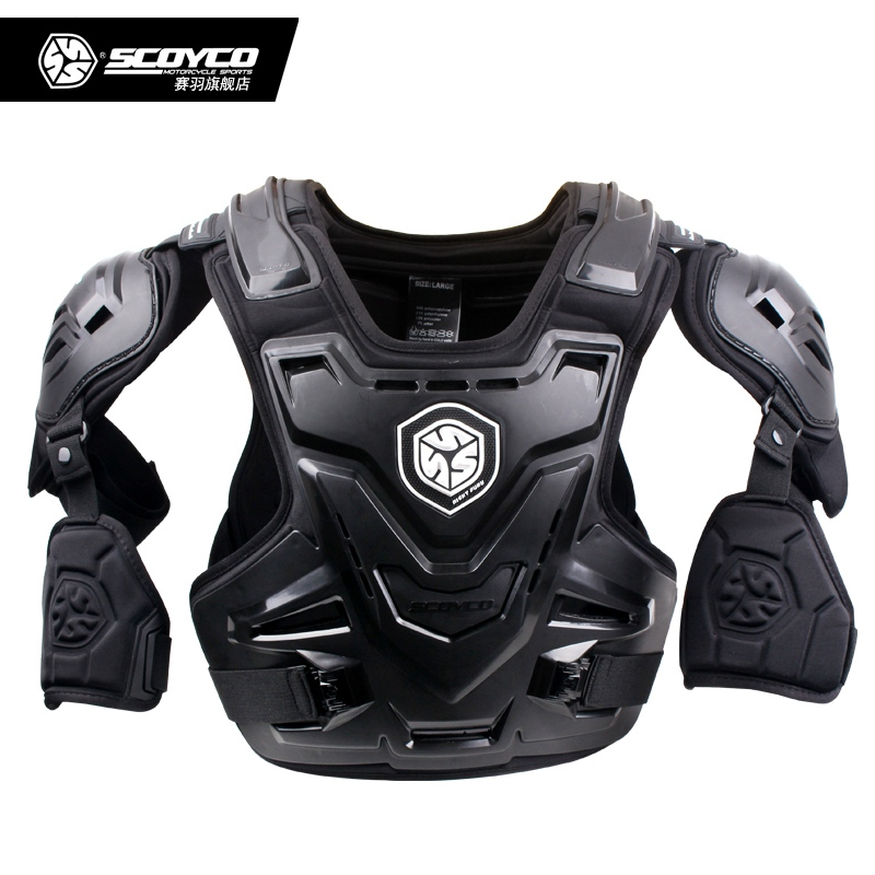 Scoyco AM07 Professional Motorcycle Body Armor Jacket With Arm Protectors Motocross Off Road Racing Armor Vest Protective Gear scoyco motocross armor off road motorcycle outdoor riding full protective gear cross country armor body am02
