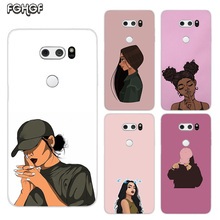 Beautiful Girls Painted Pattern Soft Rubber TPU Case For LG Q8 Q7 Q6 G6 G7 G5 G4 V40 V30 V20 V10 Transparent Cover