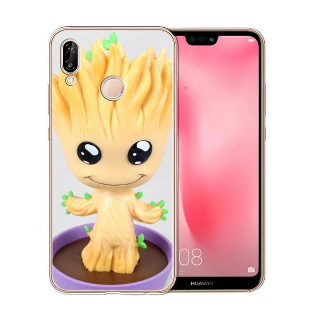 Groot housse de téléphone pour Coque Huawei Nova plus 2 3 3i Y2 II Y6 II Y3 2017 Y5 Prime 2018 étui souple Silicone étui en polyuréthane ...
