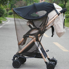MUQGEW UV Ray Sun Shade Sun Canopy+Mosquito Net For Baby Buggy Stroller Cover Pram Seat Sunshade Car Cover #5-6(China)