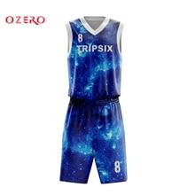 f58342ae1 OZERO reversible quick dry full sublimation custom college basketball  jerseys print