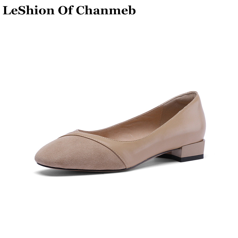 New Big Plus Size 43 Women s Real Cow Leather Ballet Flats Woman Slip ons Pink