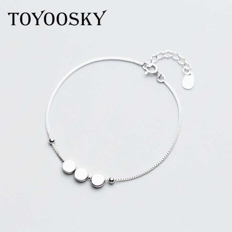 925 Sterling Silber Kleine Runde Licht Perlen Armband Armreif Für Frauen Mädchen Geschenk Dropshipping Großhandelspreis
