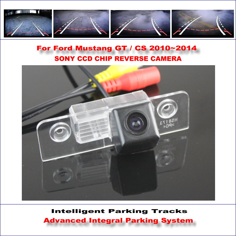 Intelligent Parking Tracks Rear Camera For Ford Mustang GT CS 2010 2014 Backup Reverse NTSC RCA
