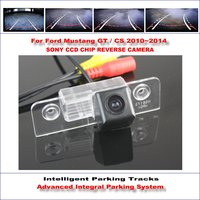 Intelligent Parking Tracks Rear Camera For Ford Mustang GT / CS 2010~2014 Backup Reverse / NTSC RCA AUX HD SONY CCD 580 TV Lines