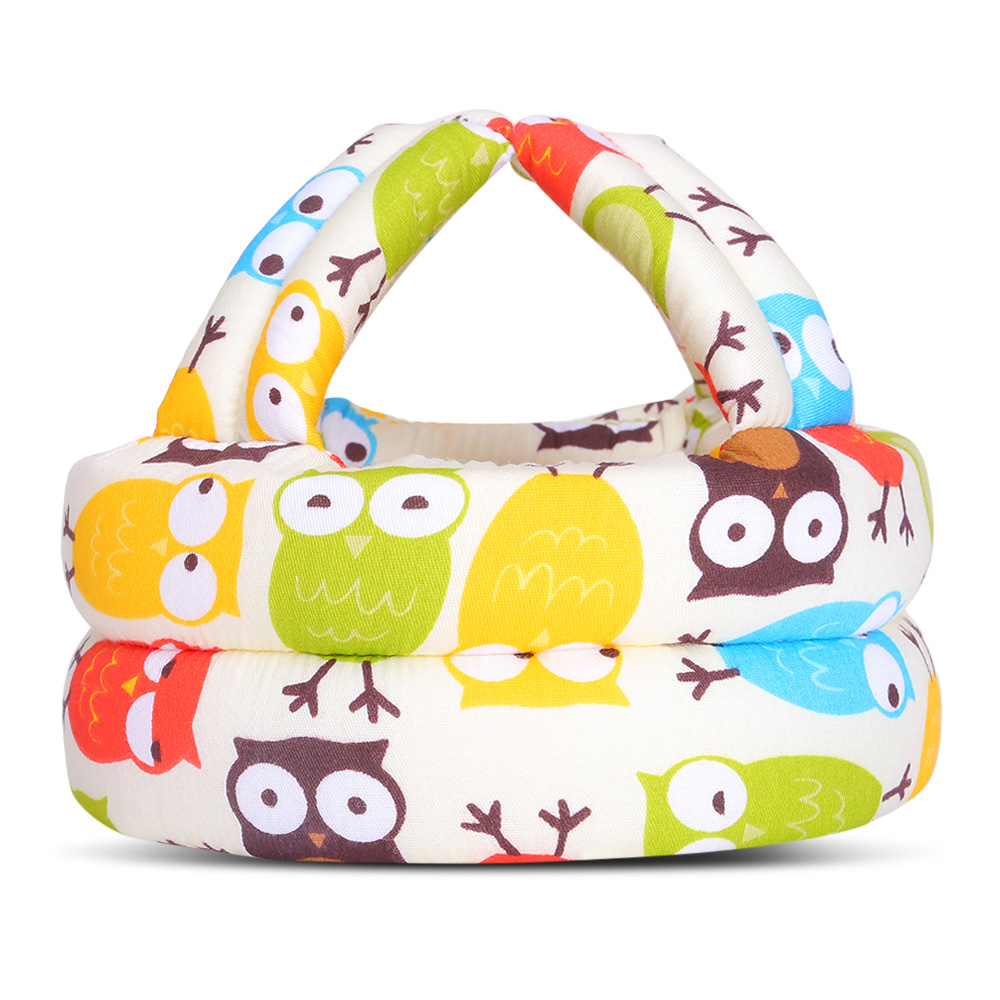 Baby Toddler Safety Hat Cap Cotton Sponge with Strap Protection Guard Helmet Anti Collision Hat for Crawling Baby Learn to Walk
