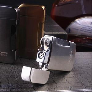 Image 2 - แก๊สซิการ์ไฟฉาย Turbo ไฟแช็ก 1300 C Jet ฟรีหัวฉีดเปลวไฟสวิทช์ Windproof ซิการ์ไฟแช็กบดล้อ Butane Gas ไฟแช็ก