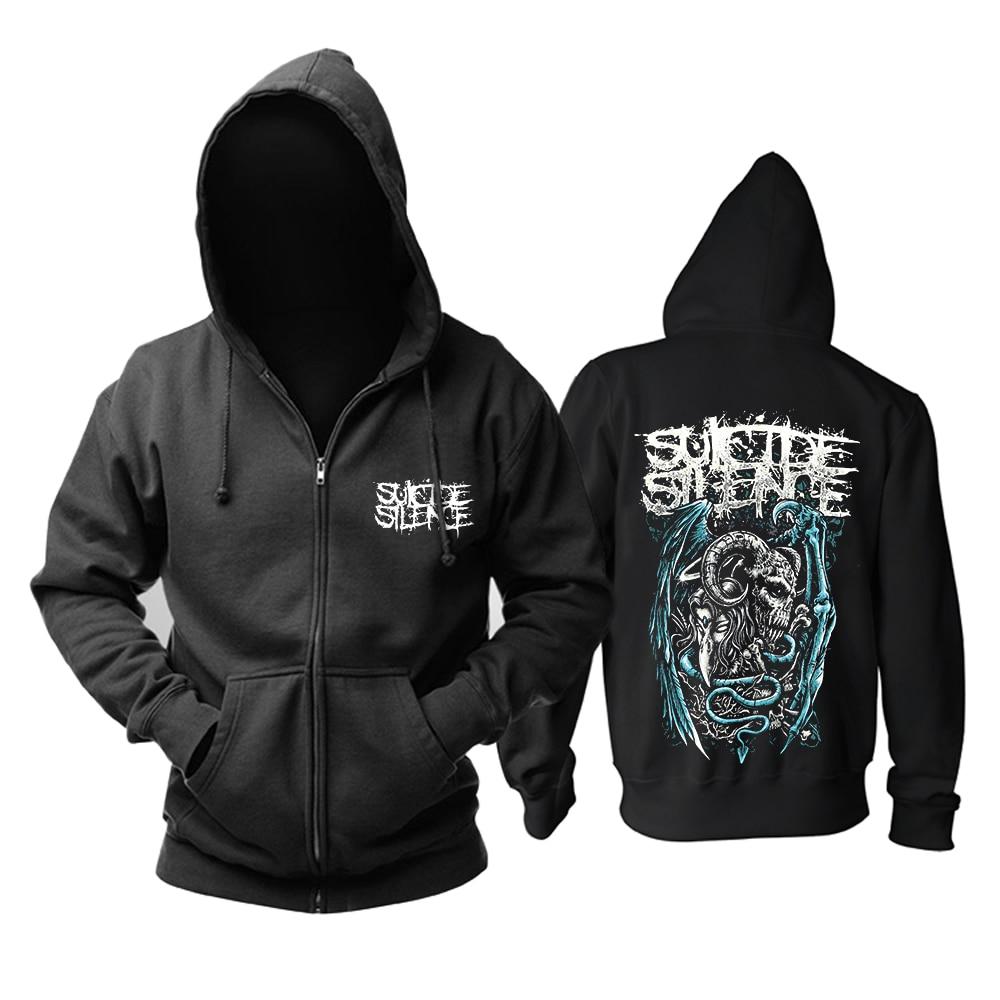 Bloodhoof Kostenloser versand Suicide Silence rock mucis pop hoodie Asiatische Größe-in Hoodies & Sweatshirts aus Herrenbekleidung bei  Gruppe 1
