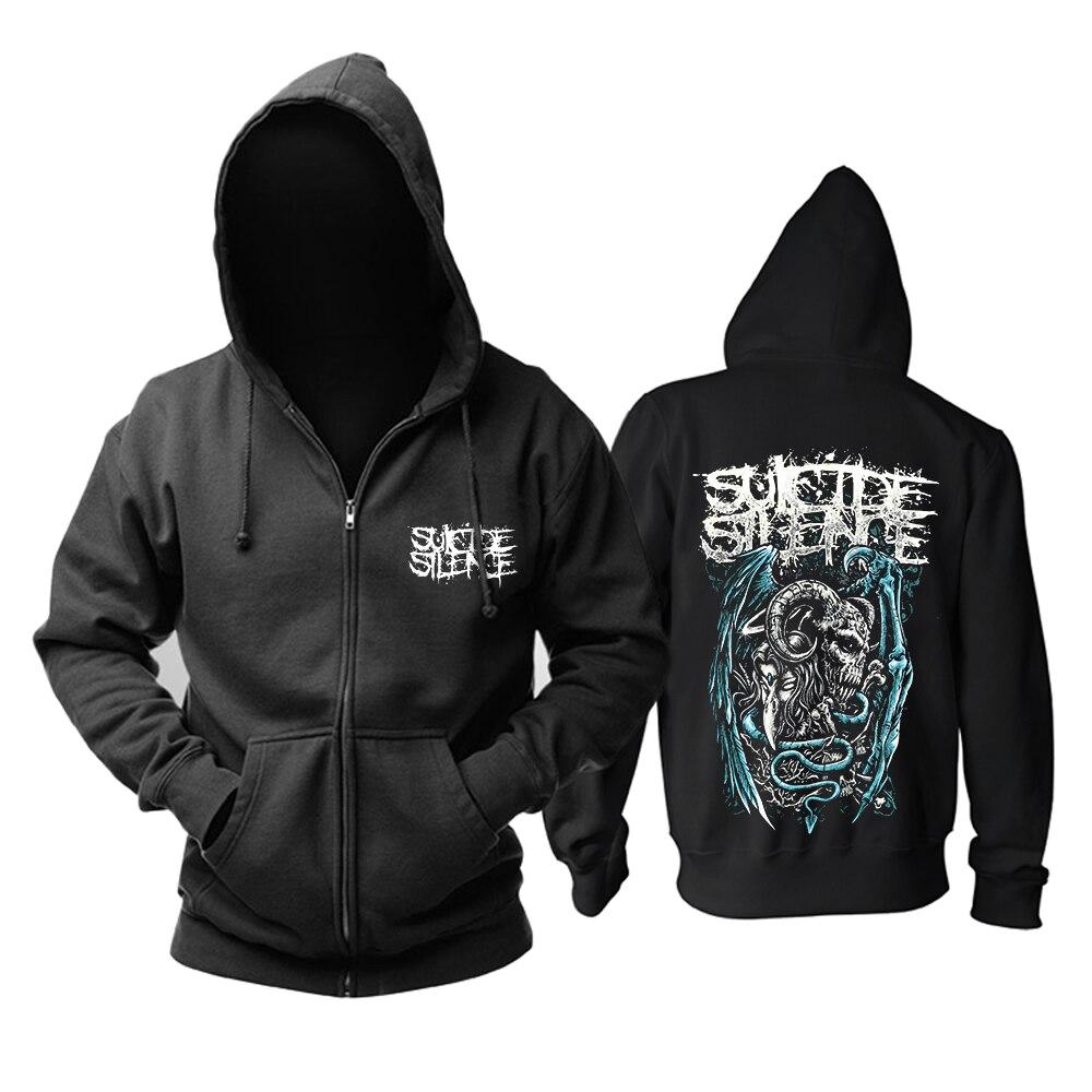 Bloodhoof จัดส่งฟรี Suicide Silence rock mucis pop hoodie ขนาดเอเชีย-ใน เสื้อฮู้ดและเสื้อกันหนาว จาก เสื้อผ้าผู้ชาย บน   1
