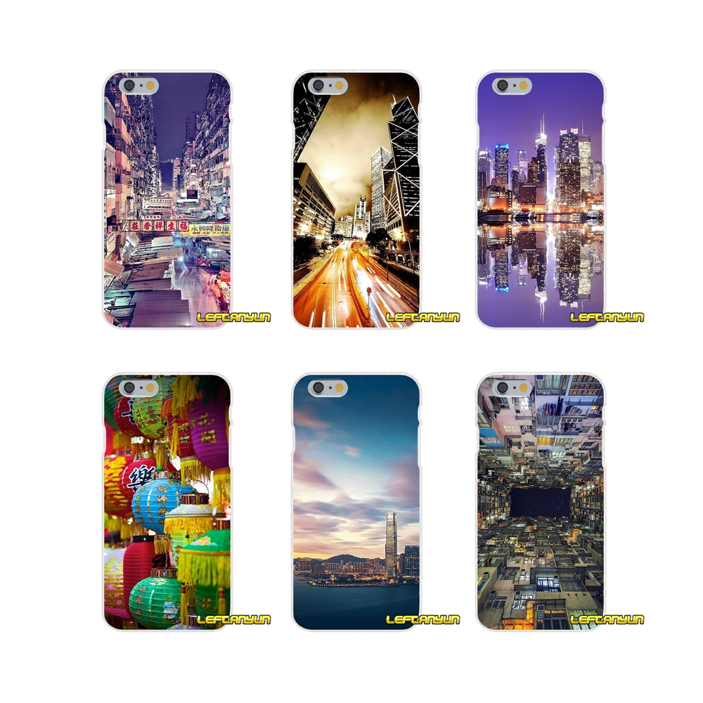 Silicone Phone Skin Case For HTC One M7 M8 A9 M9 E9 Plus U11 Desire 630 530 626 628 816 820 Hong Kong Sunset Skyscraper City Bay