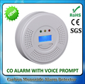 For Home Security Digital LCD Display Battery-Operated Carbon Monoxide gas Detector Alarm Sensor with Voice Warning CO Alarm