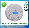 Para Home Security Digital Display LCD Battery-Operated Monóxido de Carbono CO Sensor de gás Detector de Alarme com Aviso De Voz de Alarme