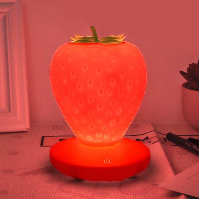 Новый детский мультфильм Usb зарядка фрукты Клубника Led освещение ночные светильники я одеваются Дети День рождения рождественские подарки