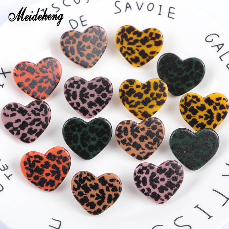 Meideheng Acrylic Leopard Print Beads Heart Bear Hair Rope Accessories For Jewelry Making DIY Gifts Costume Jewelry Materials