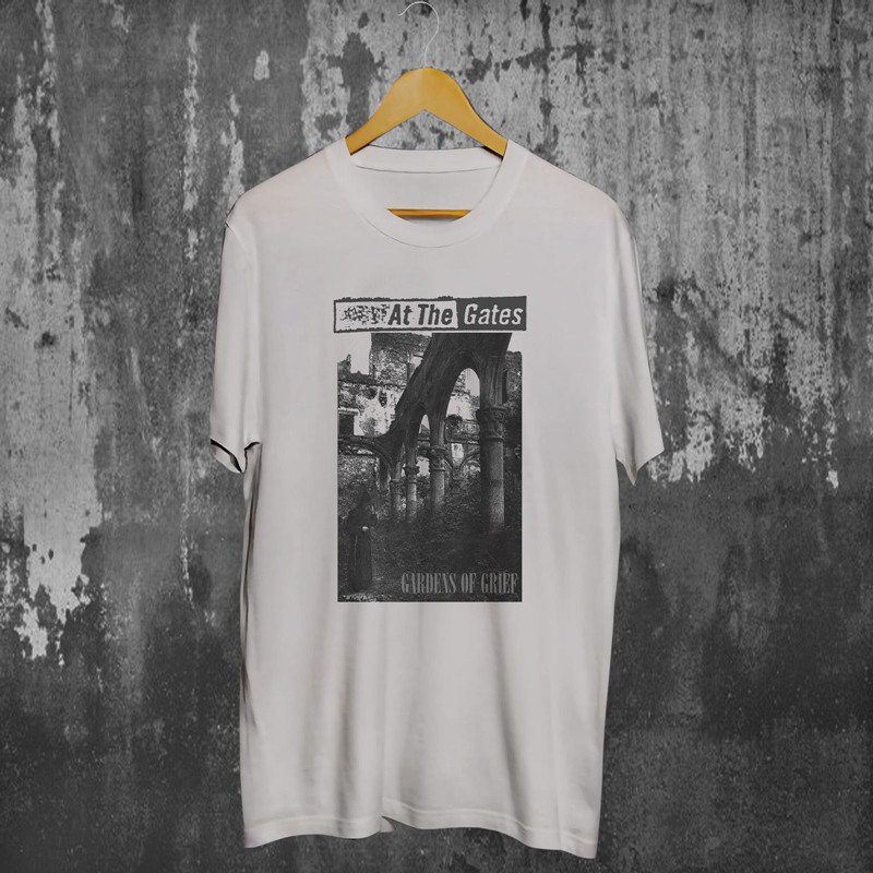 Custom Tee Shirts MenS Short At The Gates Gardens Of Grief White Crew Neck Zomer T Shirts