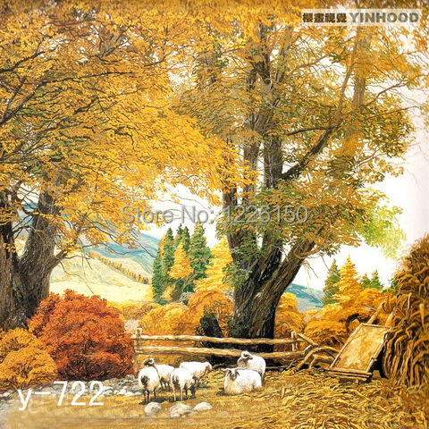 Farm in The Autumn View Studio Background Y722,10x20ft Hand Painted Photo backdrop,backgrounds for photo studio the woman in the photo