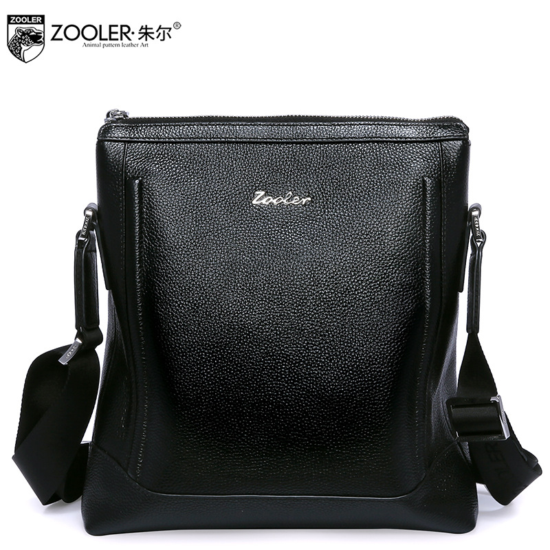 ZOOLER Men Genuine Leather Shoulder Bag New Winter 2017 Male Business Casual Soft Small Bags for Men's Cross Body Messenger Bags dispalang mini small messenger bag 3d bat skull print cross body bags for boys borsa casual small men s travel shoulder bags
