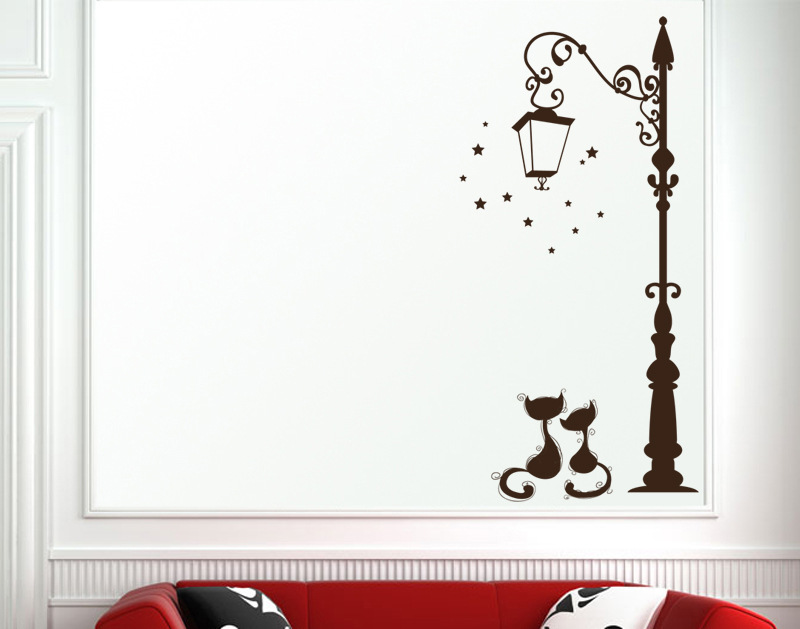 Cute Cat Fashion Wall Stickers Funny Cat Stickers Living Room Cute Cat Fashion Wall Stickers Funny Cat Stickers Living Room HTB1fEVUPVXXXXbDXFXXq6xXFXXXq