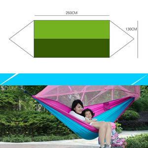 Image 3 - Portable Mosquito Net Camping Hammock Single Double Ultralight Parachute Hunting Hammocks Sleeping Hanging Bed Outdoor Furniture