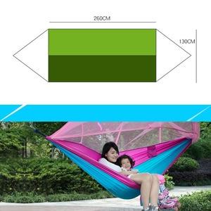 Image 3 - Portatile di Zanzara Netto di Campeggio Amaca Singola Doppia Ultraleggero Paracadute Caccia Amache di Sonno Hanging Bed Mobili Da Giardino