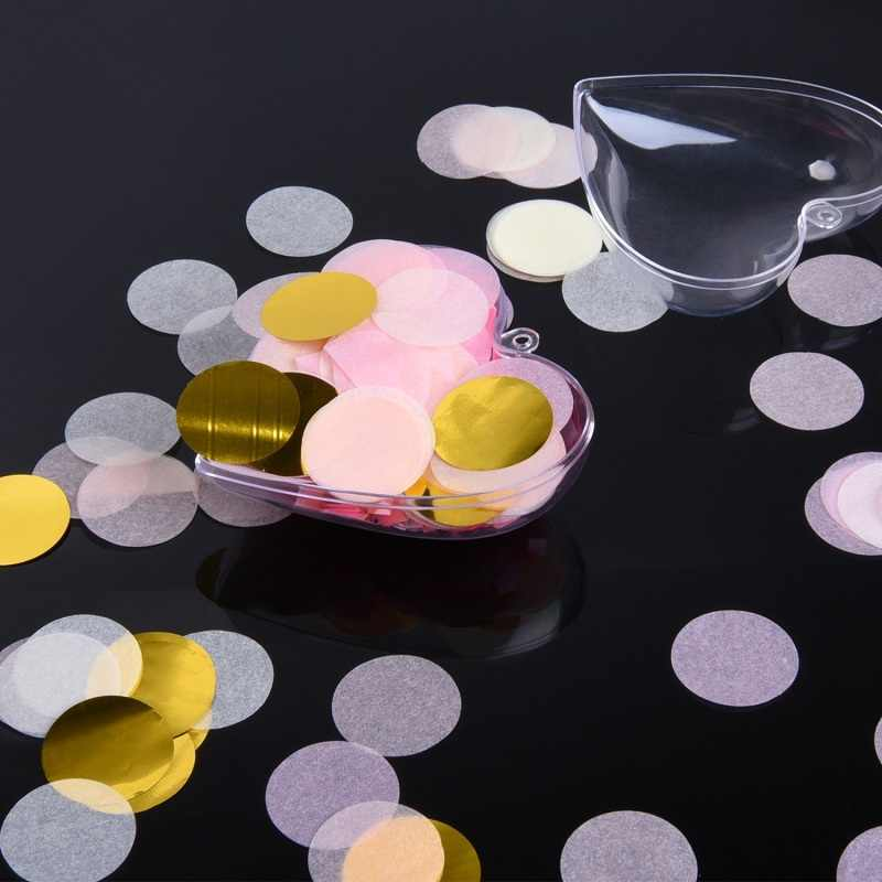 10g Por Saco de 1 polegada (2.5 cm) Cores Misturadas Rodada Papel Tissue Wedding Party Confetti Tabela Brilhante decorações