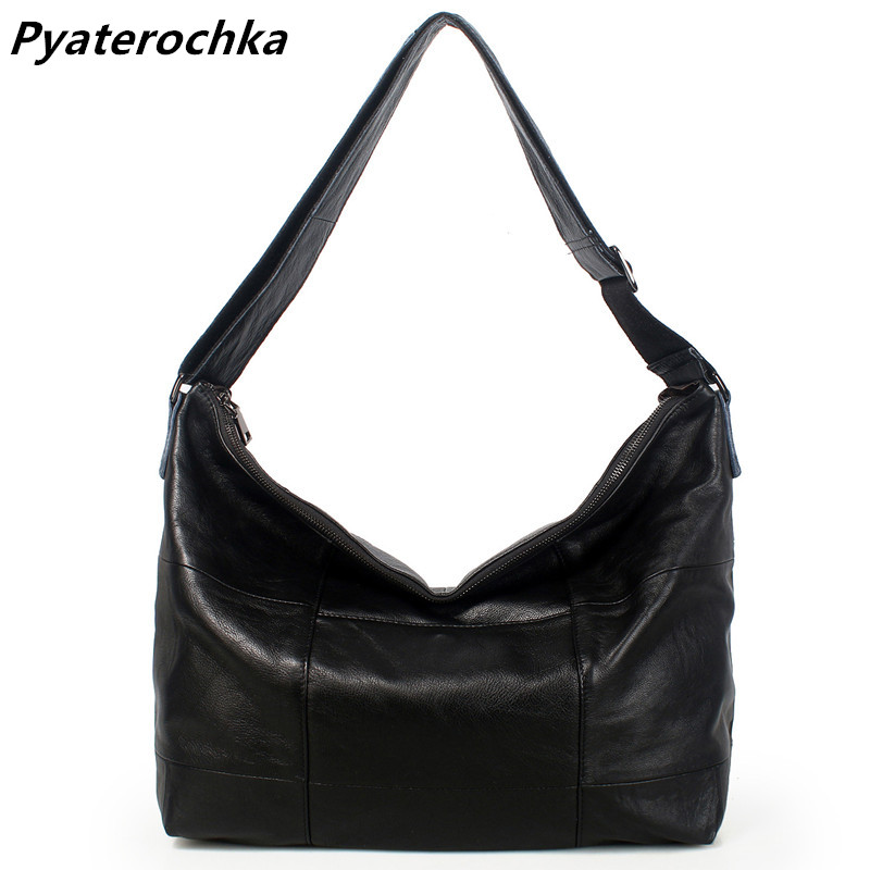 Pyaterochka Women Handbag Genuine Leather Shoulder Bag Large Capacity Casual Tote Ladies Famous Brand 2018 High Quality Big Bags kajie 2018 high quality brand bags fashion handbag genuine leather women large capacity tote bag big ladies shoulder bags