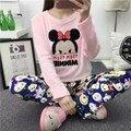 Flannet roupa Morna do Inverno Mulher Camisola de Veludo Coral Pijamas Pijamas Set Mulheres Pijama Feminino