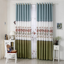 Modern living room bedroom shade curtains garden fresh embroidery windows dyed precision craft shade cloth