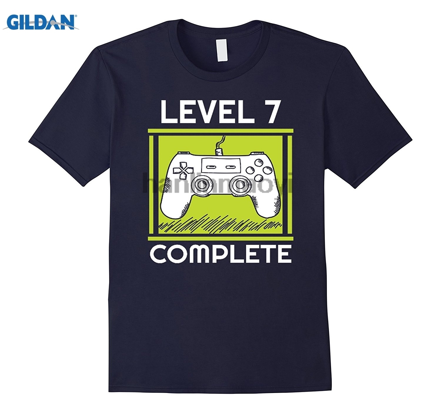 GILDAN Kids Level 7 Complete Funny Video Games 7th Birthday Gift T- ...