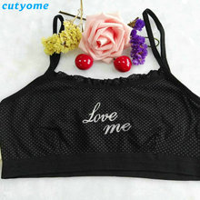 2017 1pc Teenage Underwear For Girl Children Girls Cotton Lace Wireless Young Training Bra For Kids And Teens Puberty Clothing