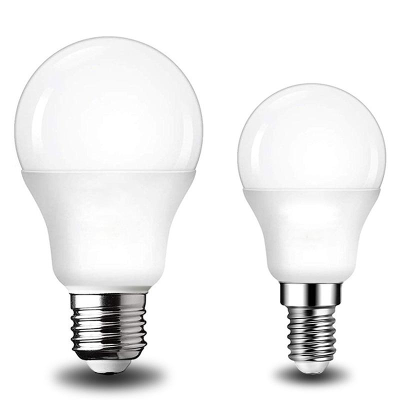Lâmpada led e14, ac 220v 230v 240v 20w 18w 15w lâmpada de led de 12w, 9w, 6w e 3w, holofote para mesa