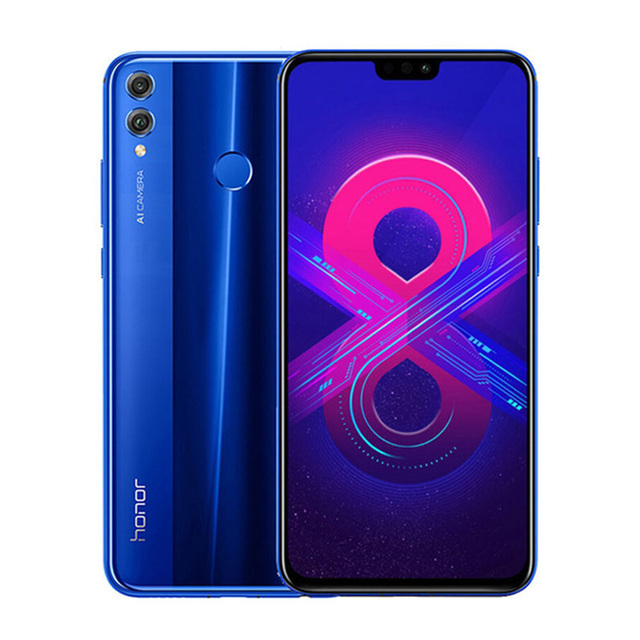 "Huawei Honor 8X 4GB 128GB Android 8.1 6.5"" Global Rom Smartphone 3750mAh 4G LTE Smartphone 20MP Multiple Language Mobile Phone"