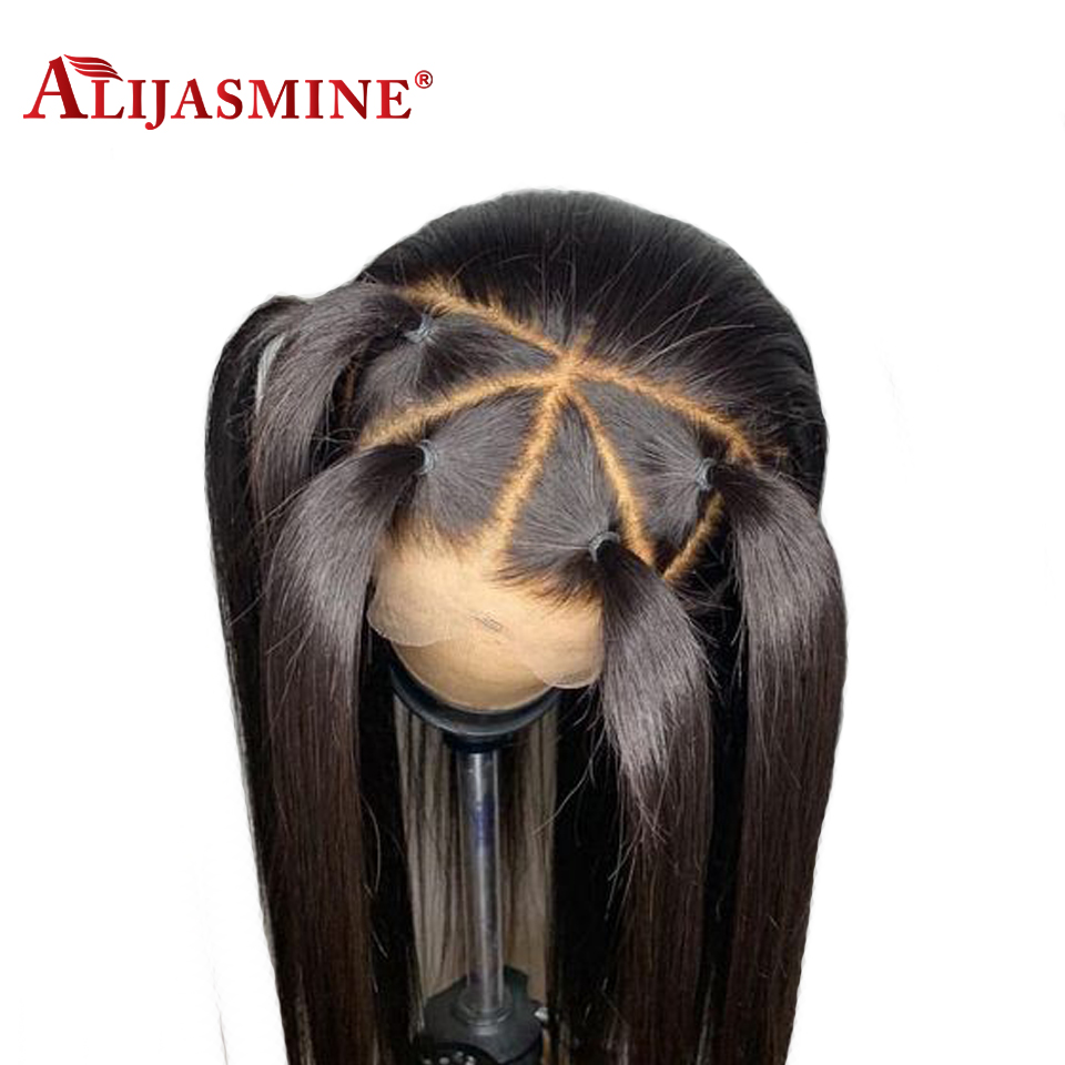 13x6 Deep Part 300 Density Lace Front Human Hair Wigs Pre Plucked With Baby Hair Brazilian