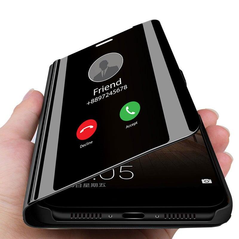 Mirror Flip Case For Huawei P20 Lite P30 Pro Mate 20 Lite Cover On Honor 20 9X 8X 10 9 Lite 7A 8A 10i Y6 Y7 Y5 P Smart 2019 Case