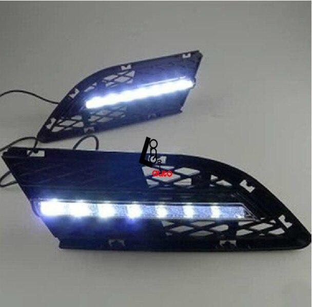 Car styling LED Brouillard Lumière de Jour Durée de Lumière Pour Bmw E90 LCI 318i 316i 320i 325i 330i