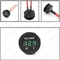 1Pc DC 12V-24V Motorcycle LED Digital Display Voltmeter Voltage Meter Panel with Green Light #FD-2612