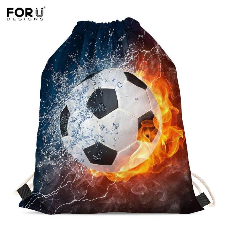 FORUDESIGNS Funny Football Baseball Printed Teen Girls Boys Drawstrings Bag Softback Storage Backpacks Fashion Travel Women Bags
