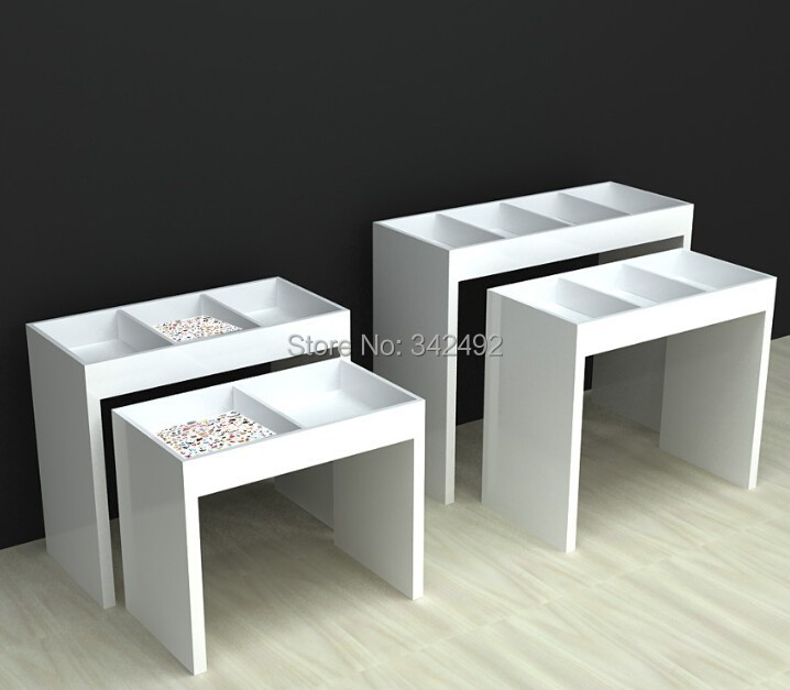 Retail Store Furniture Customzid Display Desk Clothing Commodities Display Table Easy Fix