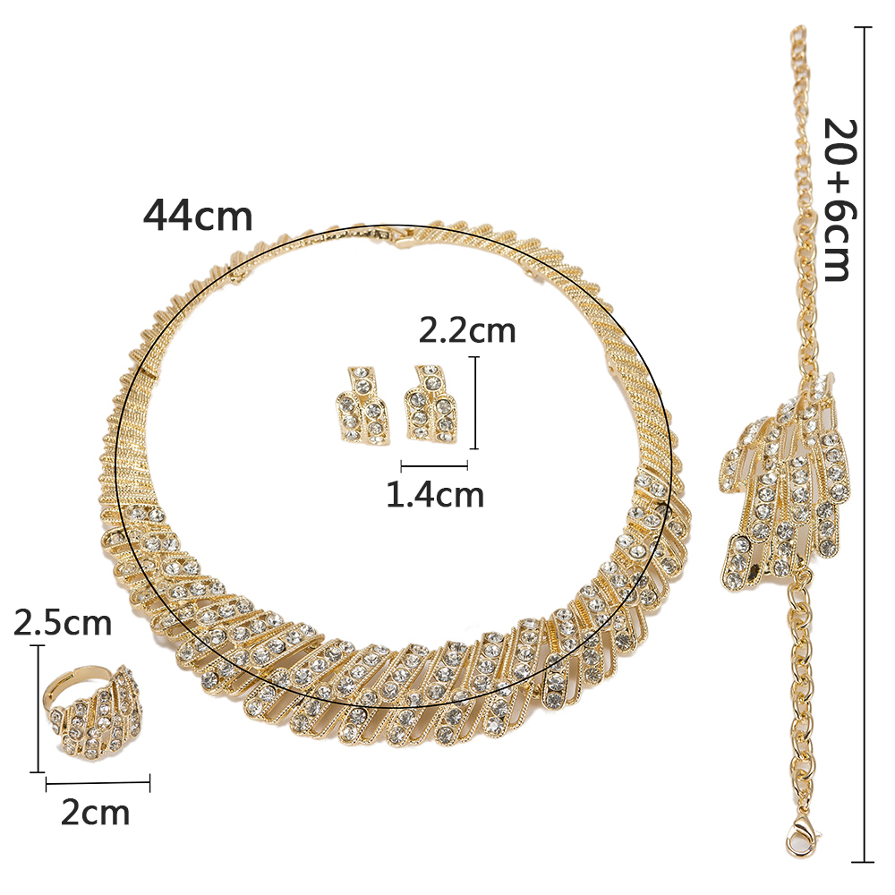 BAUS 2018 Wedding necklace set Dubai Nigeria Arabia Bridal jewelry set gold color Jewelry sets African Beads Wholesale design in Jewelry Sets from Jewelry Accessories