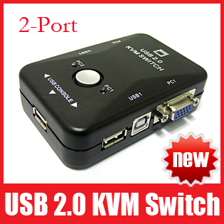 Portable usb 2 0 kvm 2 ports selector vga print auto for 2 1 2 box auto