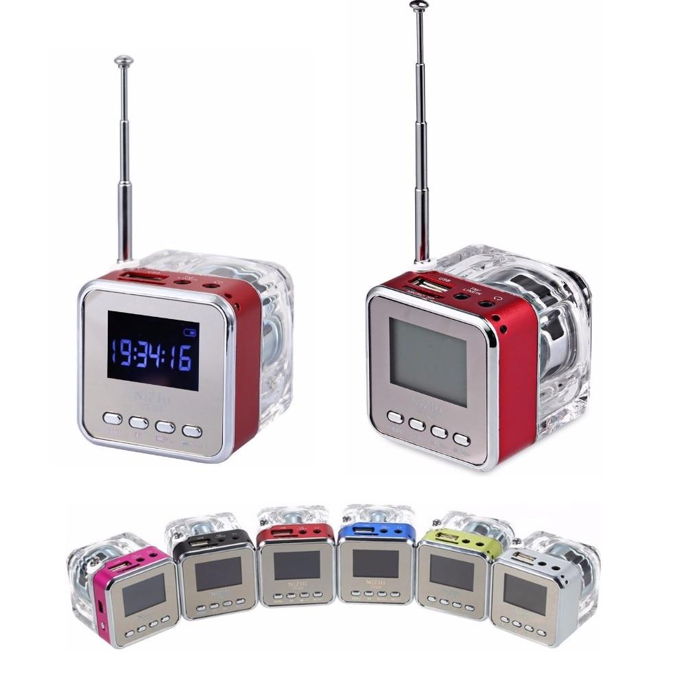 NiZHi TT 028 Mini Portable Speaker Multimedia USB Small FM Radio LED font b Wireless b